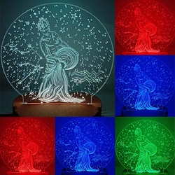 N-037 Aquarius-3D USB led Eco-friendly lamp night light, hand, table night light, home decor,