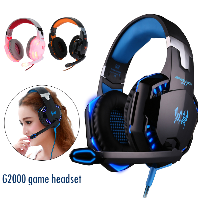<font><b>G2000</b></font> Gaming Headphones Gamer Earphone Stereo Bass with Noise Cancelling Wired Headset With Microphone Monitor <font><b>USB</b></font> Powered Earph image