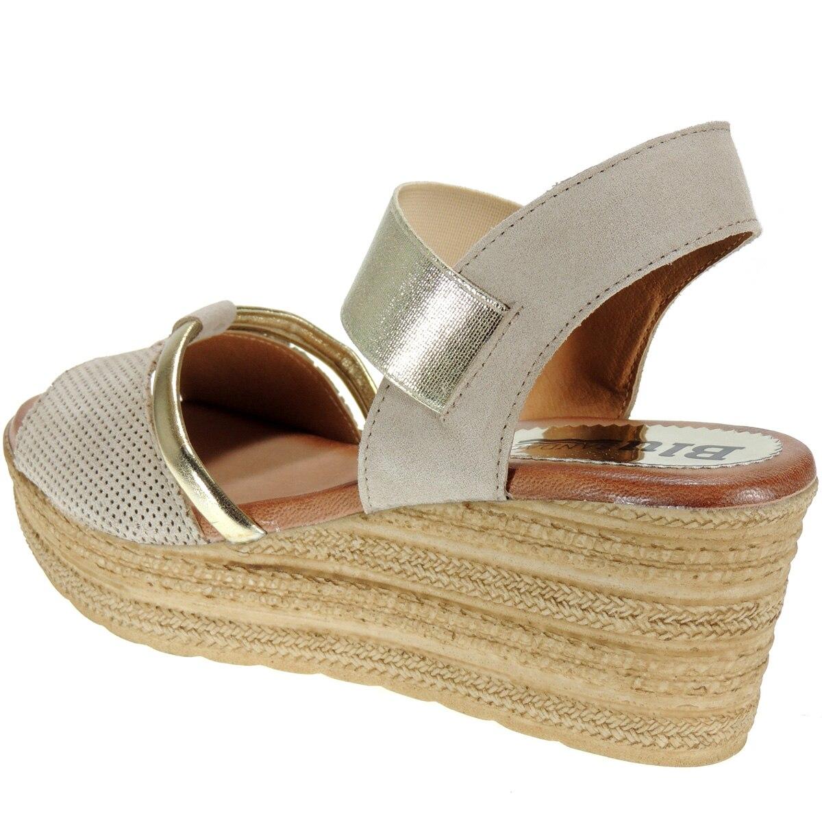Chemisier 131 cuir sandale robe plante Gel plateforme 3Cm cale 7Cm elastique femme - 4