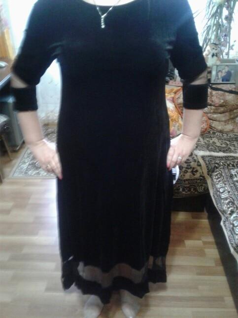 Velvet 6Xl Maxi Dress Large Size Winter Women Dress 5Xl Plus Size Sexy Evening Party Dress Big Size Clothing Long Vestidos photo review