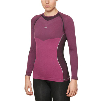 Women's Thermal T-shirt Sport Hg Hg-8050 Black Fuchsia