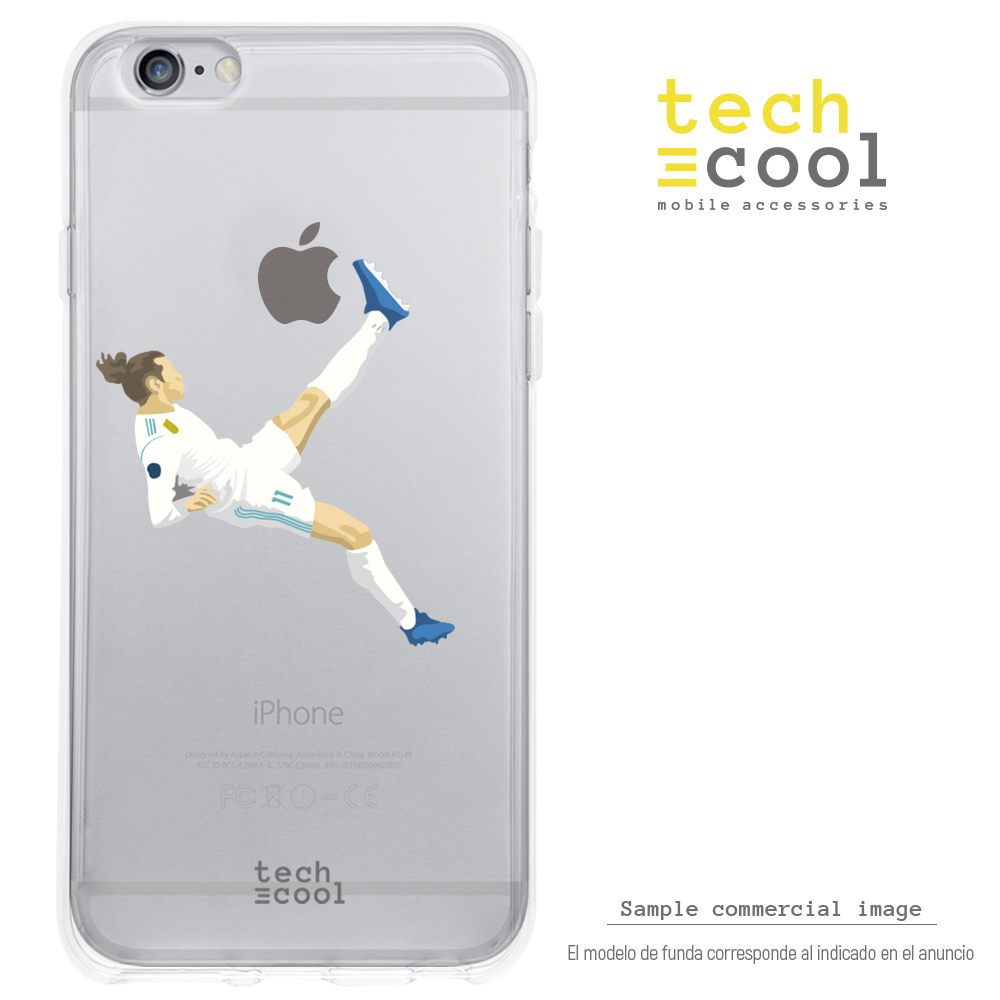 FunnyTech®Silikon stand fall für <font><b>IPhone</b></font> <font><b>6</b></font>/<font><b>IPhone</b></font> 6S <font><b>Real</b></font> <font><b>Madrid</b></font> Gareth Bale 13 <font><b>IPhone</b></font> Transp image