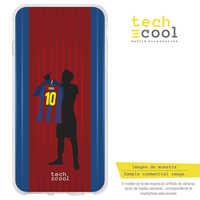 FunnyTech®Stand case for BQ Aquaris Silicone U2/U2 Lite L Messi D10S Design Design 3 fund Barca