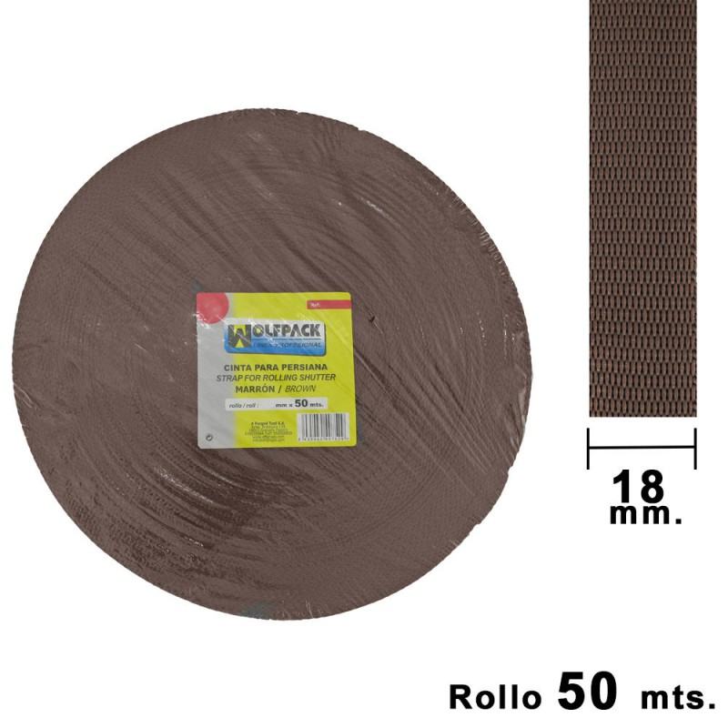 Tape Blind Wolfpack Brown 18mm. Roll 50 Meters