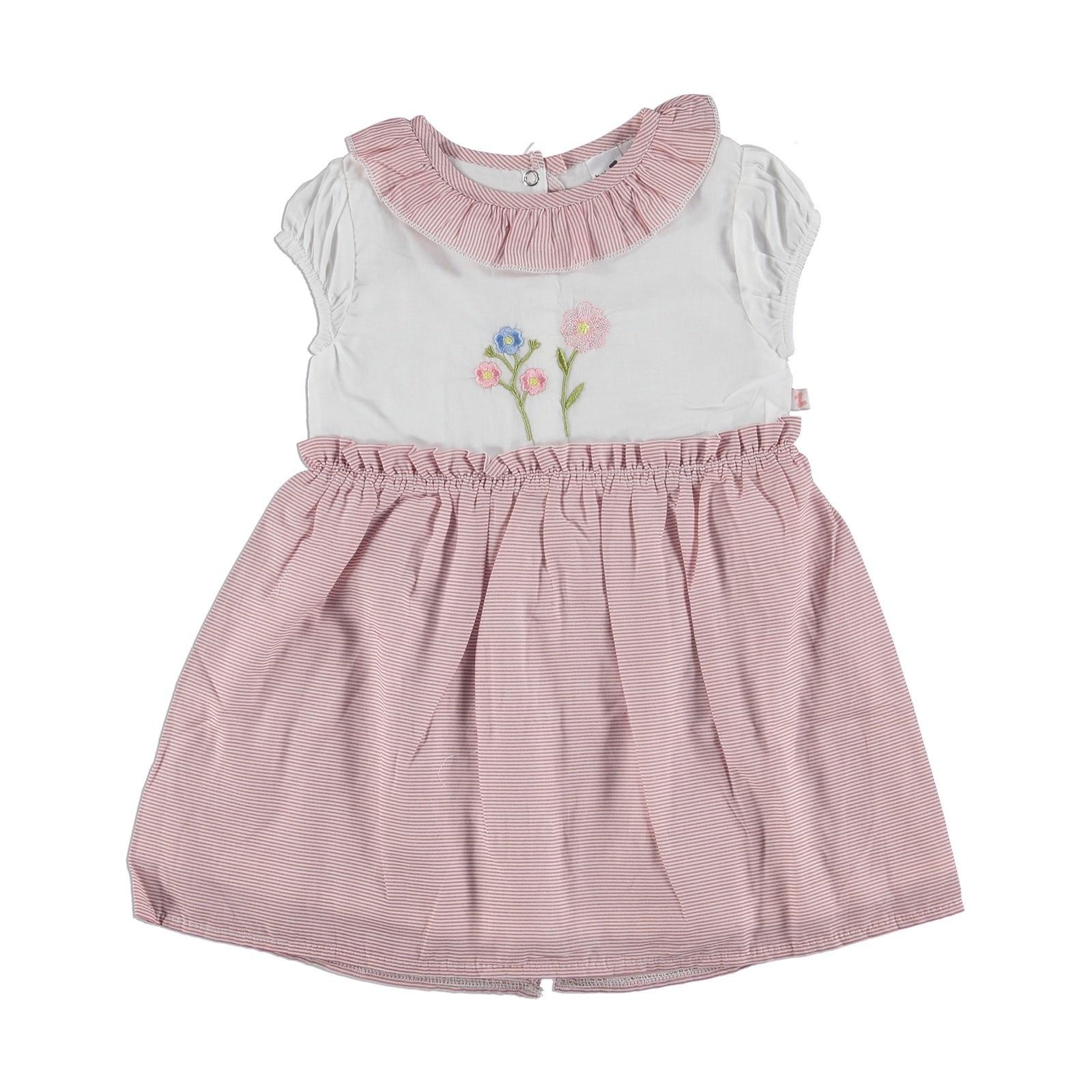 Ebebek BabyZ Flower Embroidered Baby Girl Dress