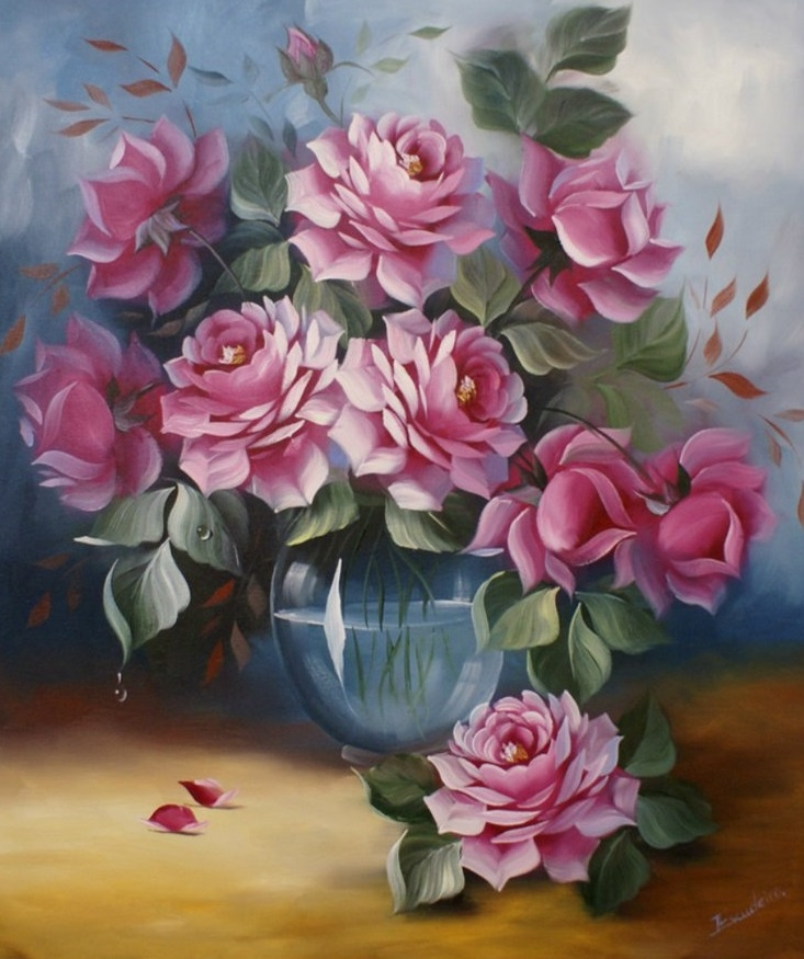 Painting By Numbers Lush Roses, 40x50 Cm