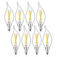 Precio Bombillas de vela de filamento LED regulables con Base E12 de 8W 800LM actualizado alargado