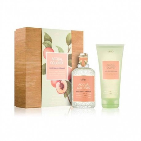 4711 PEACH AND CORIANDER AQUA COLONIA 170ML + SHOWER GEL 200ML