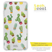 FunnyTech®Stand case for Huawei Honor Silicone View 10/Honor V10 L Cactus patterns transparent