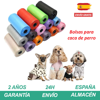 Perros productos Bolsas perro caca Multicolor o Negro Bolsa portabolsas para excrementos...
