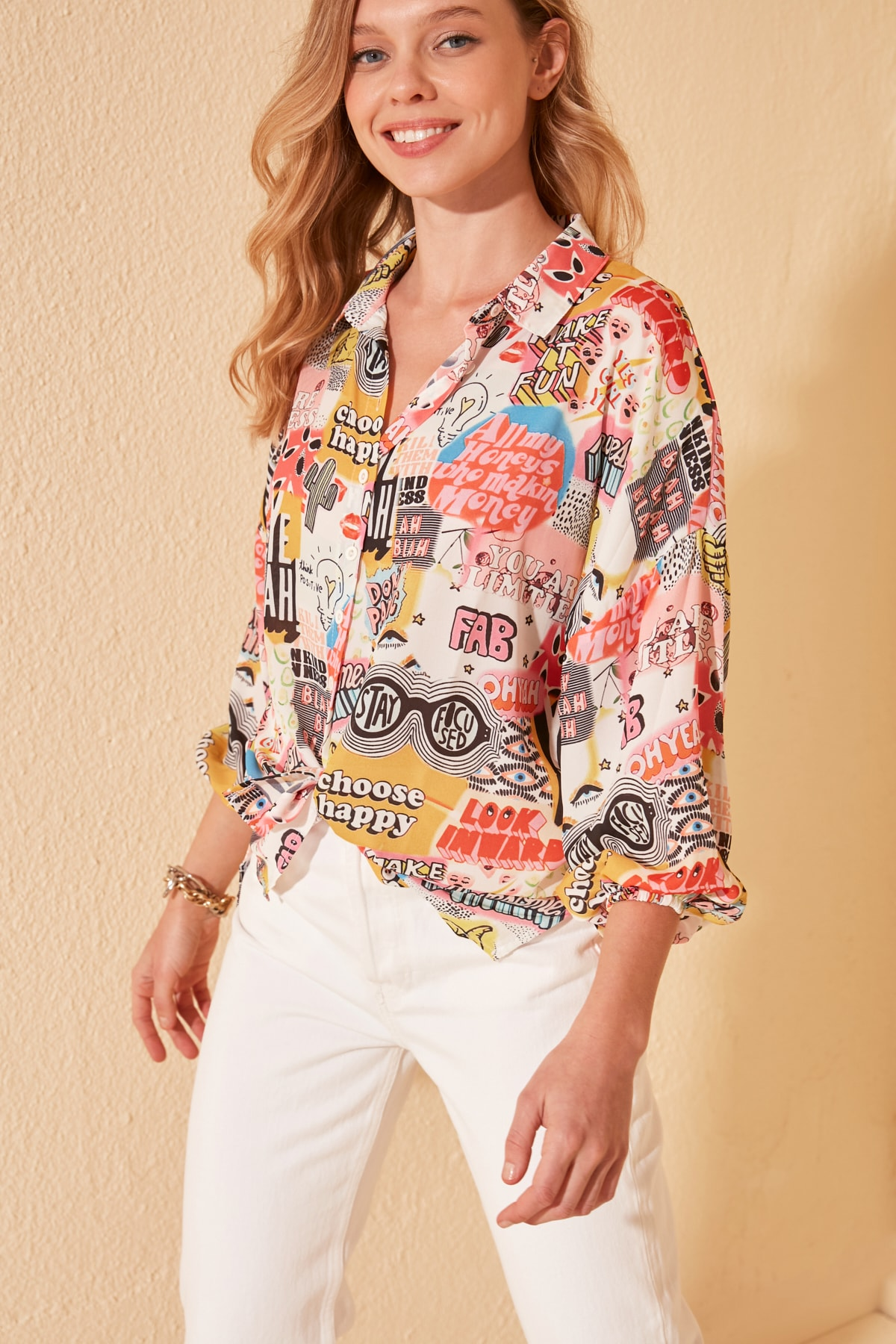 Trendyol Print Detailed Shirt TWOSS20GO0426