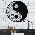 Металлическая настенная живопись  металлический декор Инь Ян  металлический декор стены  священное искусство стены  дзен Декор стены  геоме...