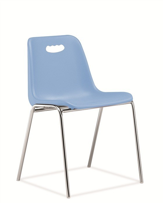 Chair ENCLOSURE With Handhold, Chrome Plated, Skyblue