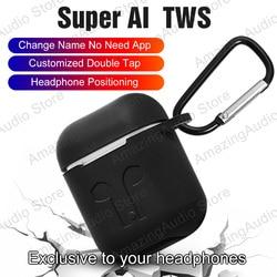 Супер AI TWS Aire2 Bluetooth 5,0 наушники с изменением названия наушники позиционирования в ухо обнаружения беспроводные гарнитуры