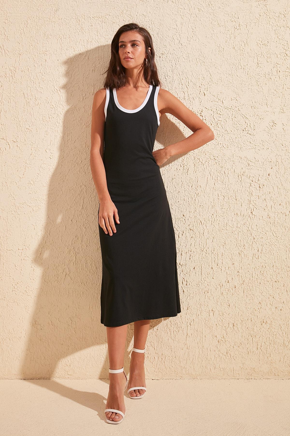 Trendyol Bias Tape Detailed Knit Dress TWOSS20EL1376