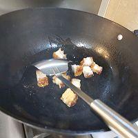 宅家吃多了,来款刮油神器,给肠道洗个澡→芥兰炒烧肉的做法图解6