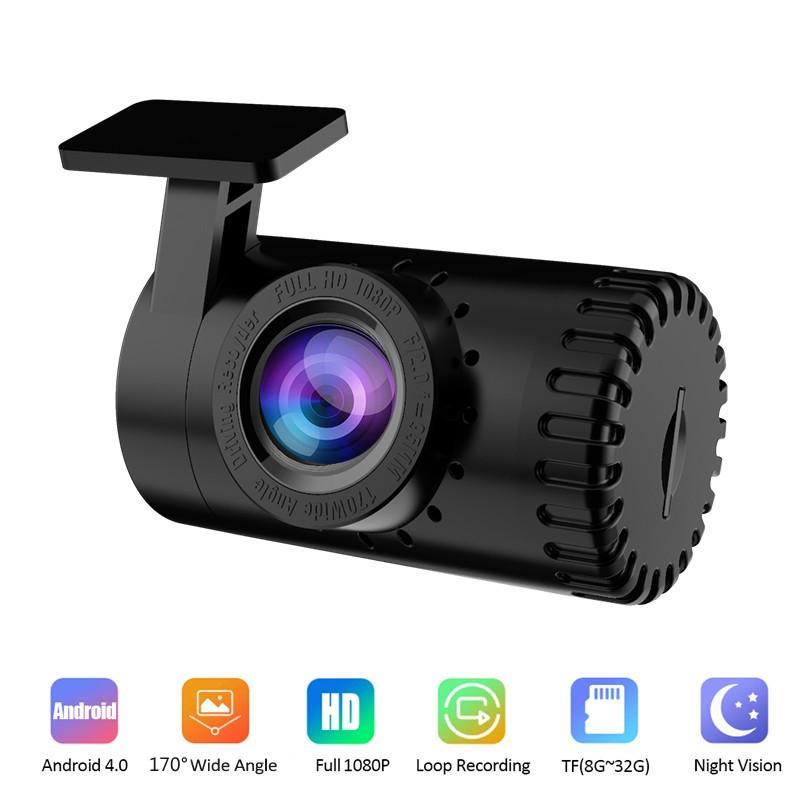 Kamera samochodowa 1080P HD wideorejestrator z noktowizorem wideorejestrator Android USB 170 ° samochodowy o szerokim kącie Dashcam ukryty automatyczny rejestrator DVR