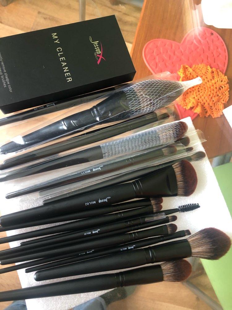 Jessup New Arrival Makeup brushes brushes Phantom Black 3-21pcs Foundation brush Powder Concealer Eyeshadow Synthetic hair reviews №2 49084