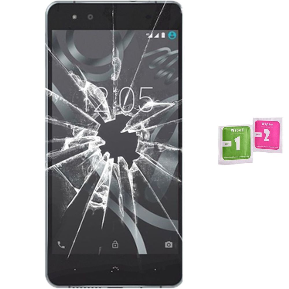 Screen Protector Tempered Glass Vidrio Para For BQ AQUARIS X5 PLUS (Generico, Not Full