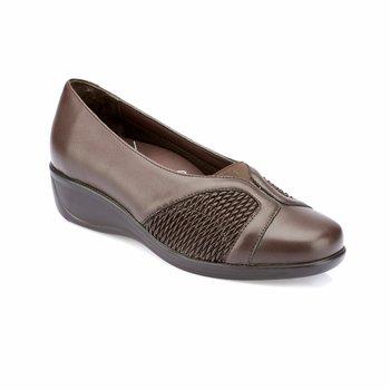 FLO 82 100164 Z brązowe buty damskie Polaris 5 Point tanie i dobre opinie Polaris 5 Nokta Trzciny