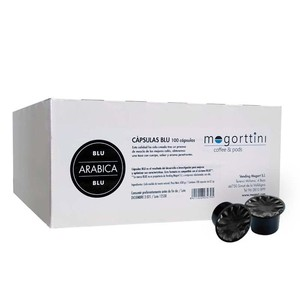 Arabica Blu Mogorttini 100 capsules