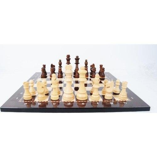 Jeu d'échecs de luxe en bois Figure d'échecs médiévaux - pièces et échiquier de haute qualité 3
