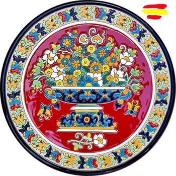 Ceramic plate 29 cm/11.4 inch diameter - Spanish ceramic - enameled up handmade - Made in Spain - MIJASCERAMIC -
