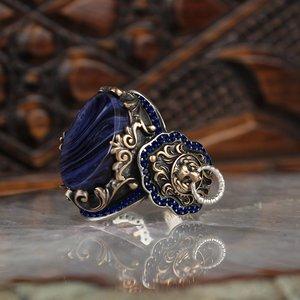 925 sterling silver men ring prawdziwa biżuteria z kamienia moda prezent vintage wszystkie rozmiary moda dla mężczyzn i kobiet made in turkey new store