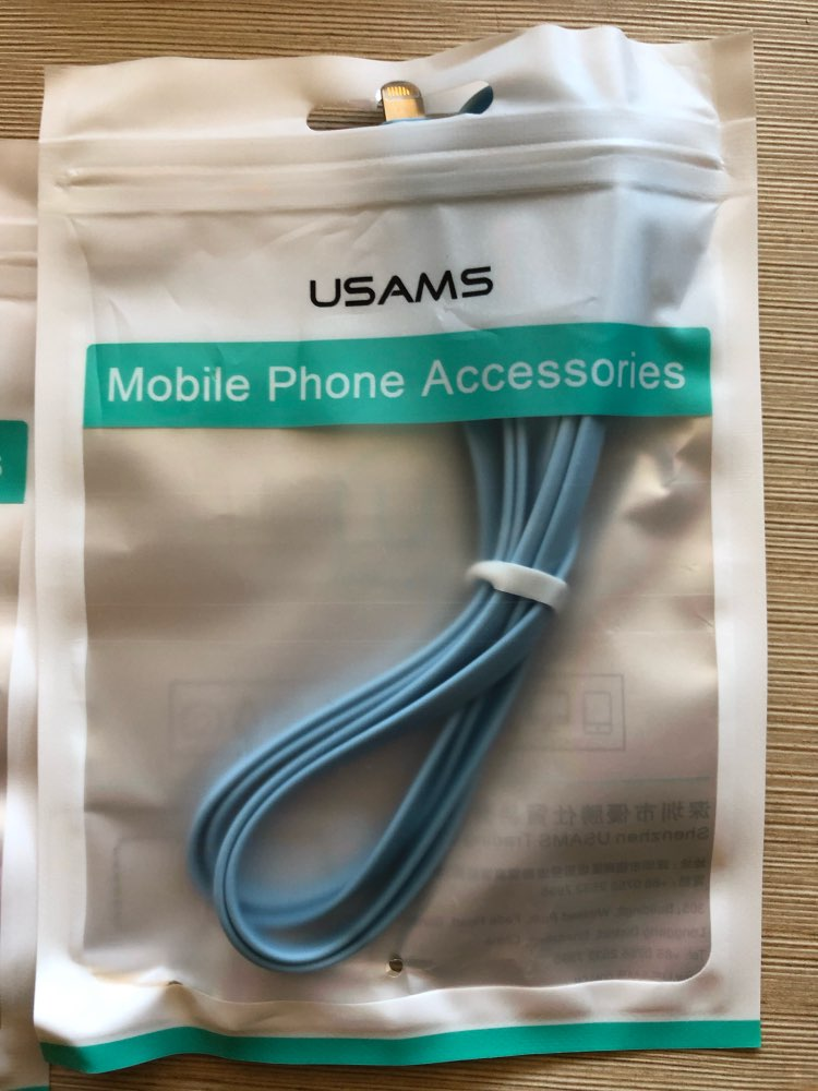 USAMS USB Cable for iPhone 8 cable Data Sync Flat Cable for iPhone XS MAX XR X 7 6 6s 5s SE 5 Cord Fast Charging Light wire|Mobile Phone Cables| |  - AliExpress
