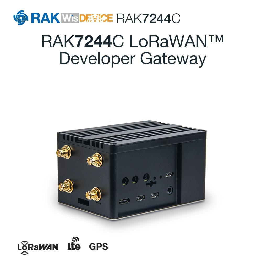 RAK7244 LoRaWAN™ Developer Gateway   LTE LoRa RAK2245 Pi HAT   Raspberry Pi 4   Optional RAK2013 Cellular Pi HAT