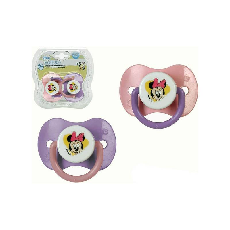 Set Silicone Pacifiers Minnie Mouse Disney + 0M 119193 (2 Pcs)
