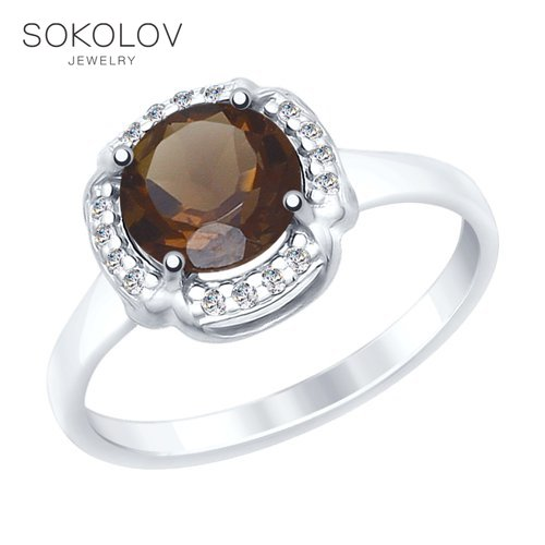 Ring. Sterling Silver With Topaz And Cubic Zirkonia Fashion Jewelry 925 Women's/men's, Male/female