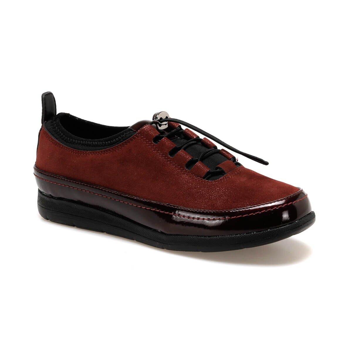 FLO 92.101001SZ Burgundy Women 'S Sneaker Shoes Polaris 5 Point