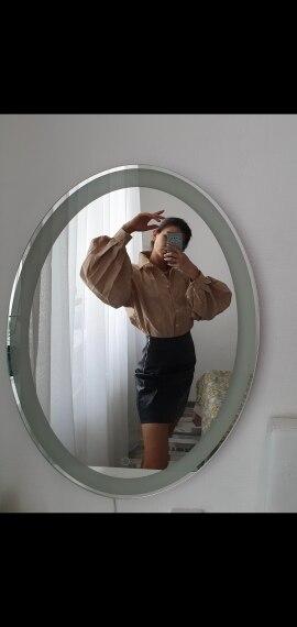 InstaHot Lantern Sleeve Elegant Shirt Blouse White Black Sexy Button Vintage Turn Down Collar Office Ladies Shirt Female Casual photo review