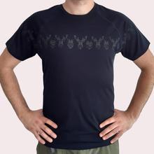 Мужской из шерсти мериноса Футболка Мужской Топ вязаный короткий рукав термический базовый слой Джерси футболка черного цвета