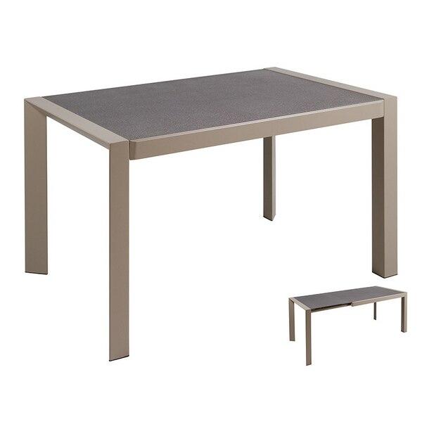 Dining Table Crystal Metal Grey (120 X 82 X 76 Cm)