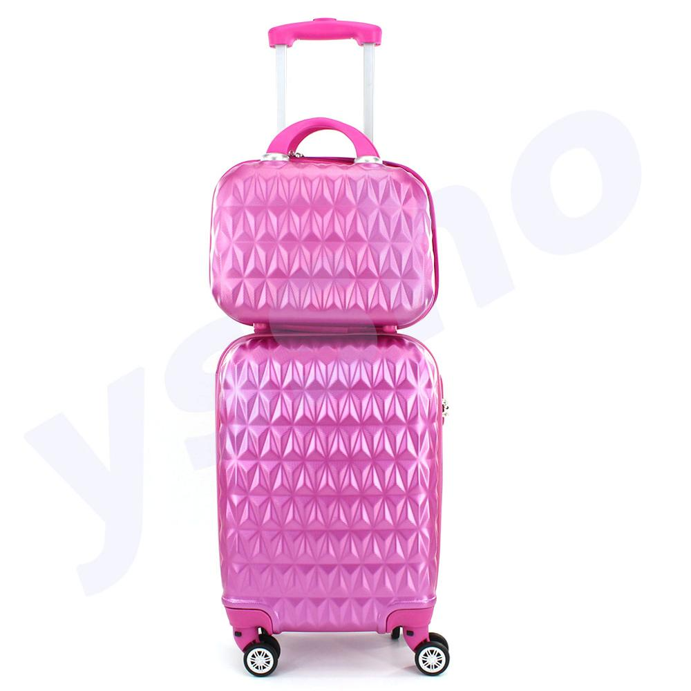 Suitcase For Cabin With Cosmetic Bag 50cm Rigid