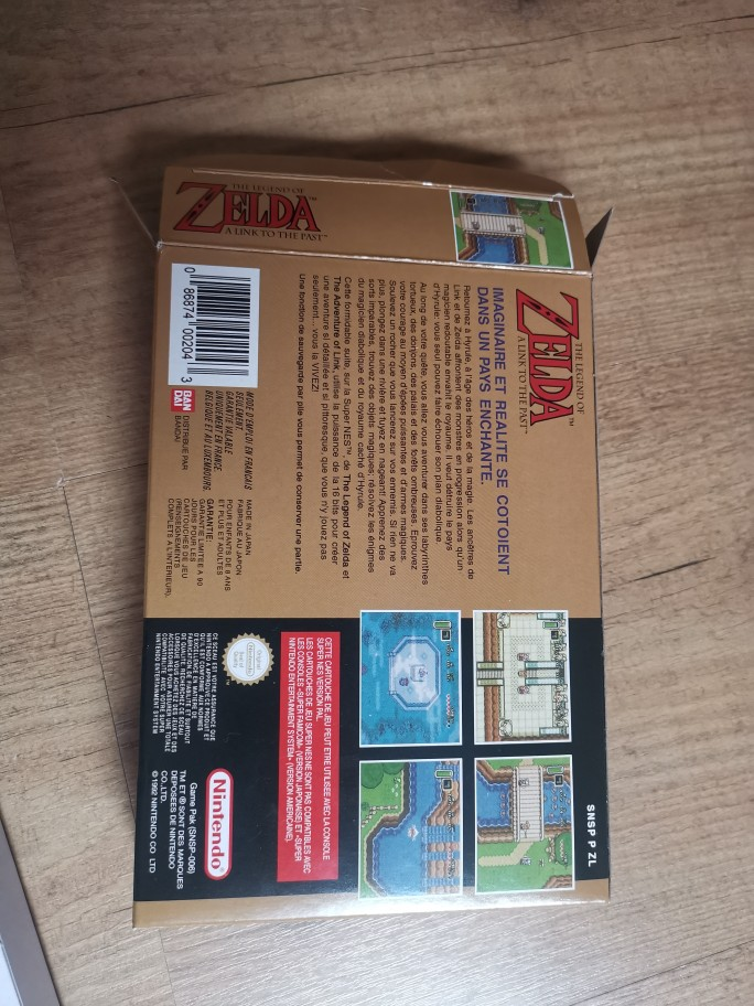 A Link to the Past 16bit game cartidge for pal console photo review