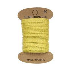 Cuerda de yute, 10 m (amarillo)