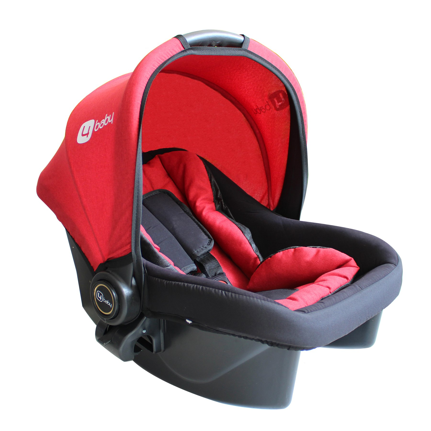 Four Baby Strollers Red