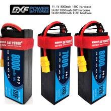 DXF 2S 3S 4Sแบตเตอรี่Lipo 7.4V 11.1V 14.8V 5200mAh 6500mAh 7000mAh 8000mAh 50C 100C 60C 120C 110C 220CสำหรับAkku 1/8 รถBuggy