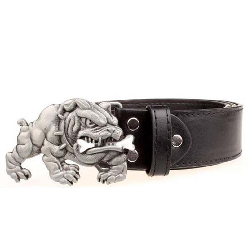 Greek Hip Hop Bulldog Belt Buckle For Men Belts Omeg Psi Phi Fraternity Buckle