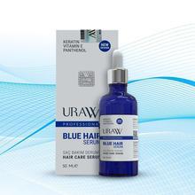 URAW BLUE HAIR SERUM (BLUE SERUM) %100 Hologram Orginal strengthens hair repair, slows hair loss, hair growth support