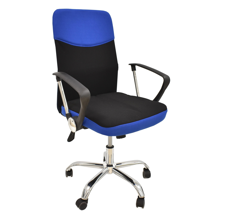 Office Armchair TANGO, Gas, Tilt, Fabric Black Blue