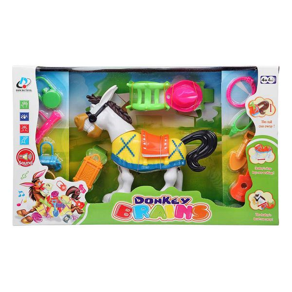 Interactive Toy Donkey Brains 115450
