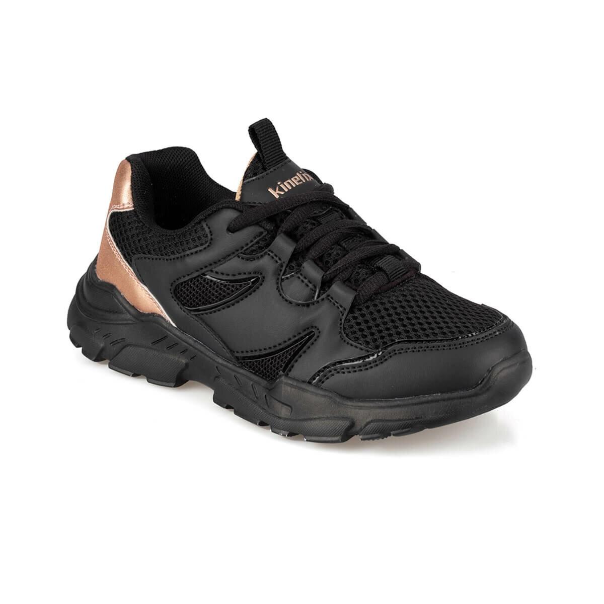 FLO SANDRA 9PR Black Female Child Walking Shoes KINETIX