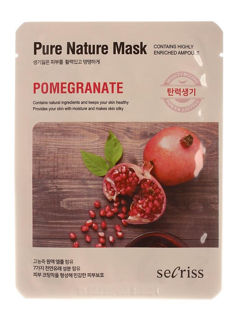 Аnskin Secriss Mask Cloth Secriss Pure Nature Mask Pack-pomeganate 25 Ml