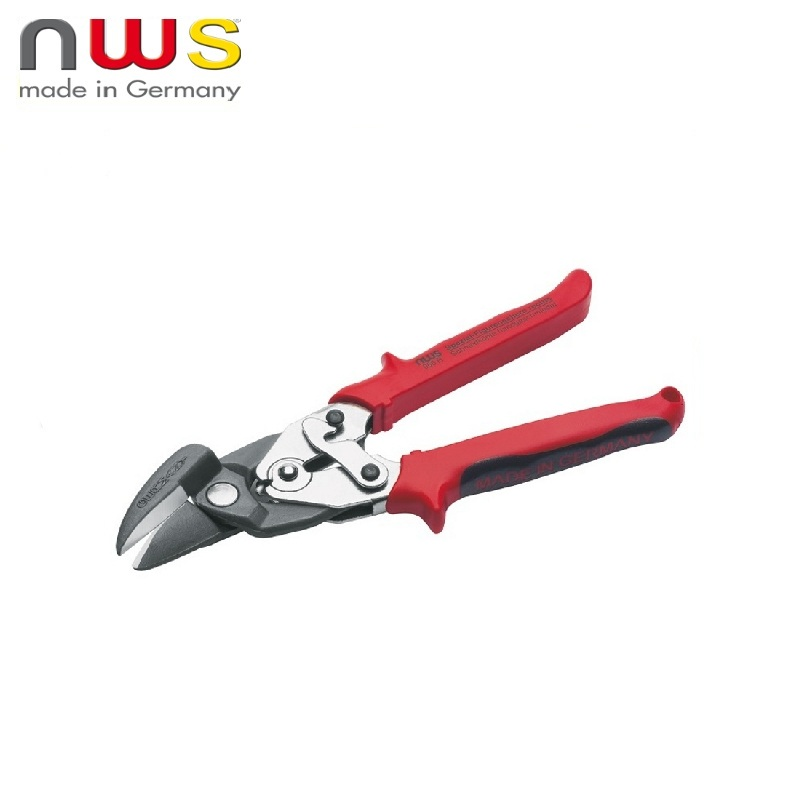 NWS Metal scissors Universal right edge, short straight and curly cutting 250 mm Sheet metal cutting Household tool