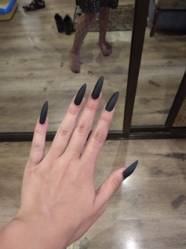 False Nails Matte 24pcs Long Tips for 3 Pure Color Chip Gel for Nails Extensions Nail Tips Faux Ongles Fake Nails Stiletto Artif photo review