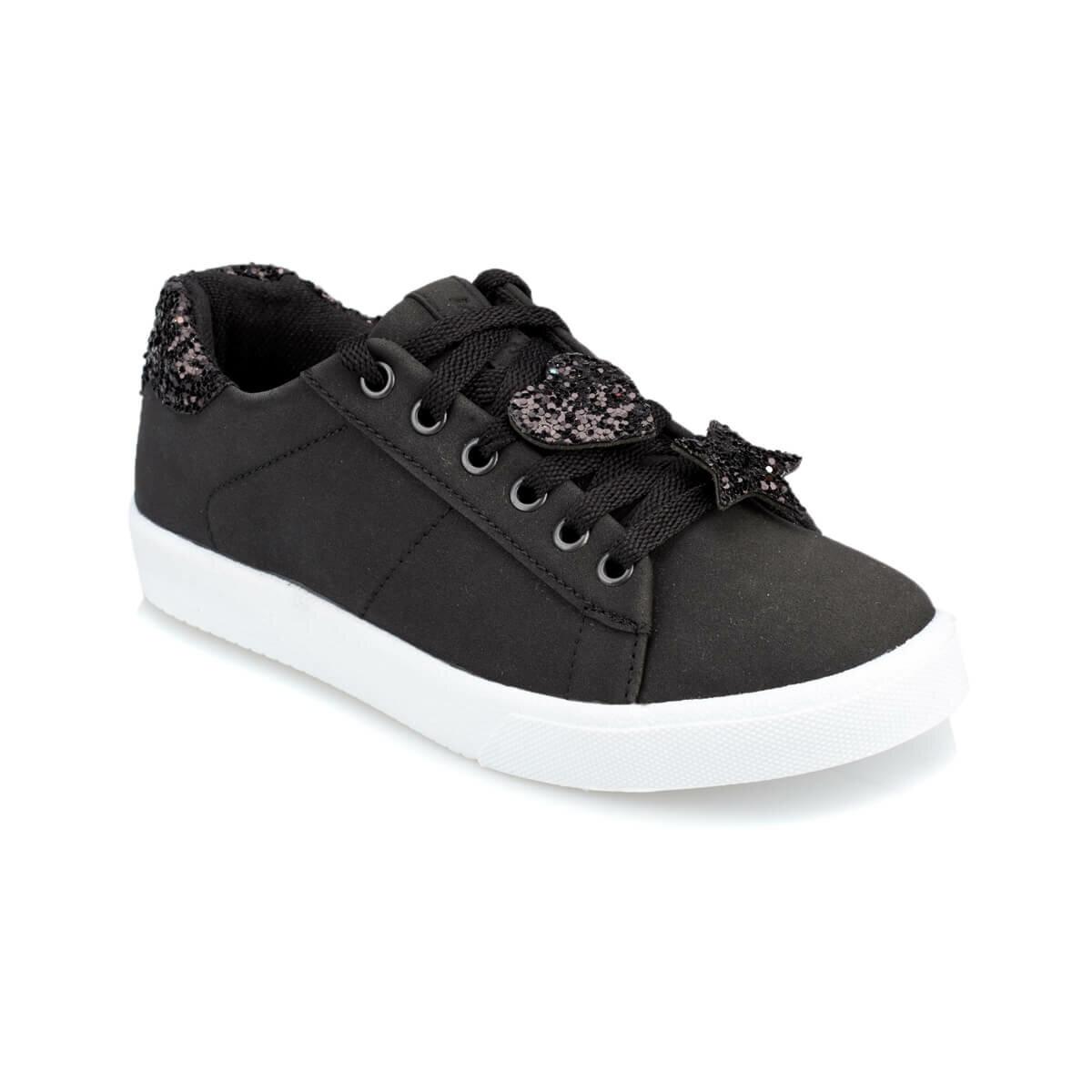 FLO ZENIS Black Female Child Sneaker Shoes KINETIX